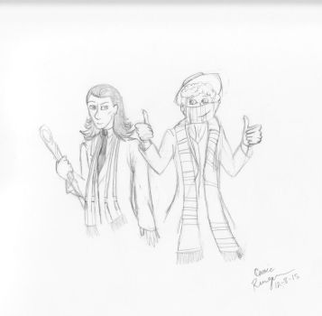 Who wore a scarf better Forth Doctor or Loki by Carrie416