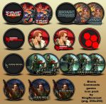 Bionic Commando series icons by KingReverant