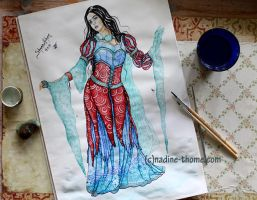 Snow White costume design by NadineThome