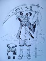 I Wanna Be!! Panda~ by superu-shounen