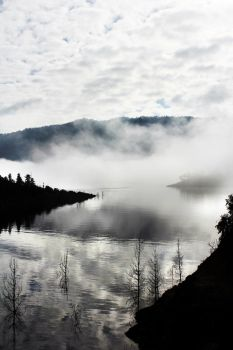 O Misty Lake by m00tle
