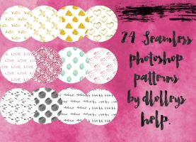 24 Photoshop Patterns by dlolleyshelp