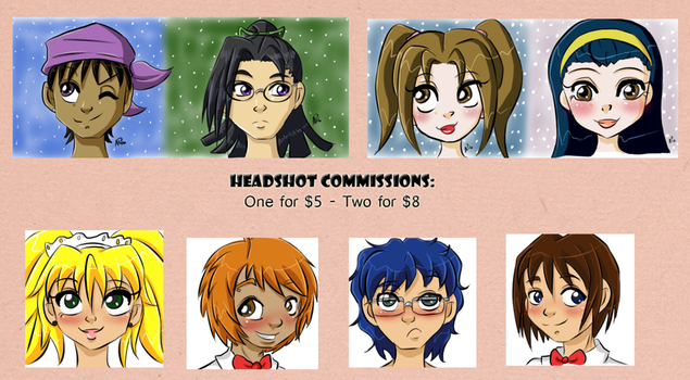 Headshot Commissions by Miss-Mae