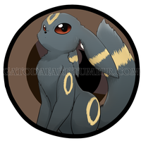 Umbreon button by Gatodae