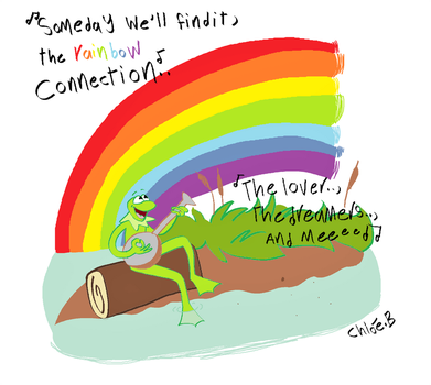 the Rainbow connection by beggtoons