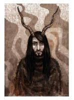 Horned Man by Finnguala