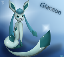 Glaceon with a diamond by Kalinel