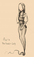 Nora - the faceless lady by Ririki