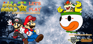 Super Mario Star Road - Co-Op Let's Play Poster V2 by TuffTony