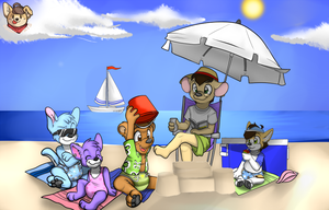 Chillin' At The Beach! by HuskySoFly