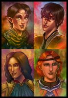 Dragon Age 2 - Characters 2 by lux-rocha