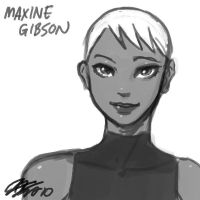 Maxine Gibson Head Sketch by johnjoseco