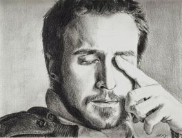 Ryan Gosling by willowcharcoal