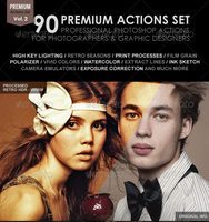 90 Premium Actions Set by freebiespsd