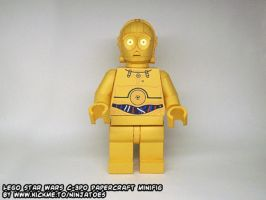 Papercraft LEGO Star Wars C-3PO animation by ninjatoespapercraft