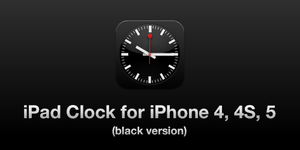 The iOS6 iPad Clock for iPhone 4, 4S and 5 (black) by elpiimsguajee