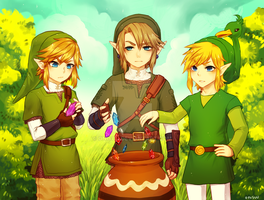 LOZ -- Birthday present (added spdpaint) by onisuu
