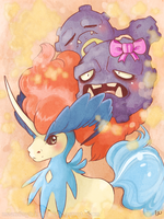 keldeo and weezing by mybirdy