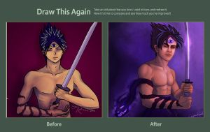 Draw This Again - Hiei by MockingbirdFly