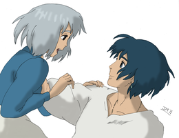 Howl and Sophie 2 Colored by DoranBladefist