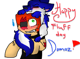 Fluff day present for Domoz~! by SuperKittey