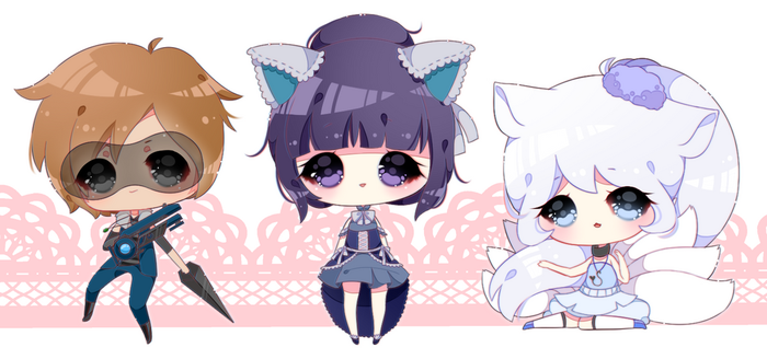 pudding chibis | #3 by rinihimme