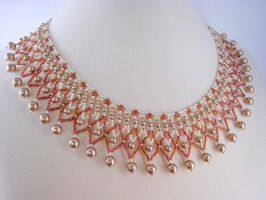 Bronze Pearl Necklace by BeadfulStrings