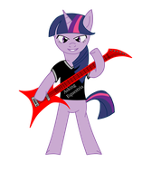 twilight sparkle guitarist 2 by hells-edge