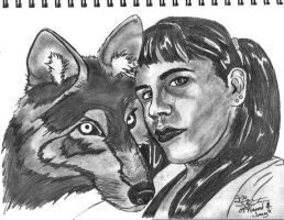 Naomi And Her Wolf by AudioHomicide