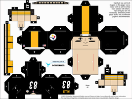 Heath Miller Steelers Cubee by etchings13