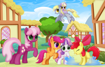 Playing in Ponyville's Streets by CTB-36