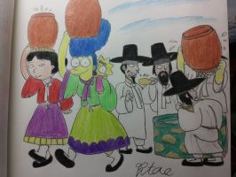 The simpsons:Water party in Korea. by komi114