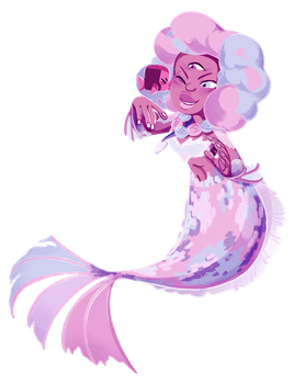 Garnet Chibi Mermaid! by weirdlyprecious