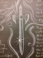 Chalkboard art 1 by Sheighness