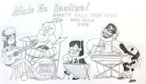 Making the Opening Theme of Gravity Falls by komi114