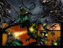 Aliens Sample Page Colored by likwidlead