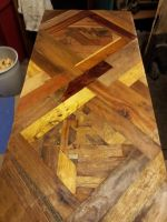table top of recycled wood by ArrowTurtle