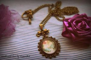 Locket with a butterfly and notes by KaoriArt