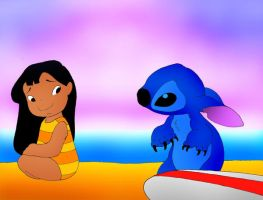 Lilo and Stitch by kilroyart