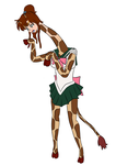 Sailor Jupiter giraffe tf by Xysash