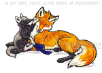 Uther And Vixen Commission by WildSpiritWolf
