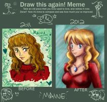 Draw it Again! Meme- Maine by IndigoFlamingo