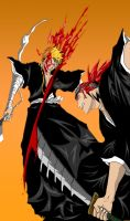 Renji vs Ichigo by DarkAngelAmv