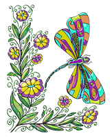 Coloring Page Dragonbutterfly By Anbeads-02 by bbvzla