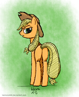 Applejack: What Ya Want? (colored) by kemono666