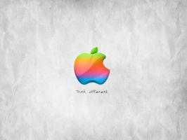 Retro Apple Wallpaper by designgised