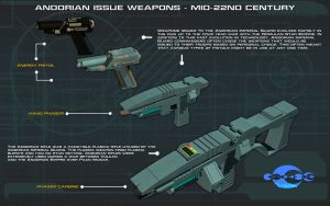 Andorian Weapons [Mid-22nd Century] Tech Readout by unusualsuspex