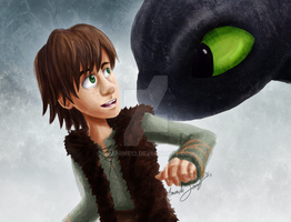 Hiccup and Toothless by AJanime12