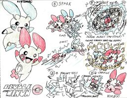 Plusle and Minun's Brawl Moves by AngstyGuy