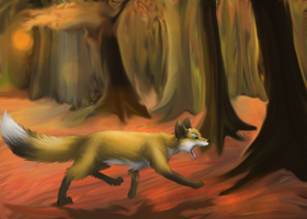 Fall Fox by CrunchyCrowe